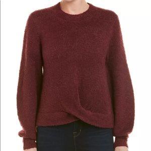 Joie Stavan wool blend sweater blackberry size M